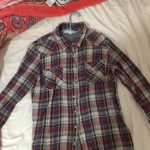 LOVESTICH red flannel. Size large. Worn 1-2 times